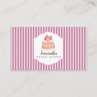 Bake Goods lines Business Card