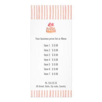 Bake Goods Pastry Rack Card