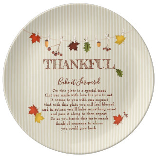 Bake it Forward Fall Leaves on Clothesline Plate