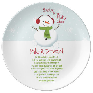 Bake it Forward Snowman Holiday Cheer Plate