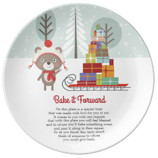 Bake it ForwardWoodland Bear Christmas Plate