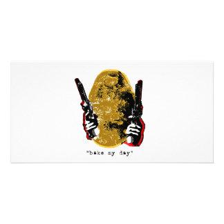 bake my day-gold customized photo card