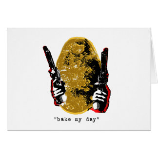 bake my day-gold greeting card