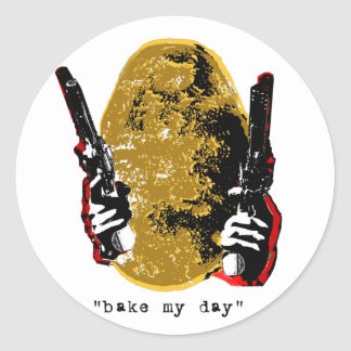 bake my day-gold round stickers