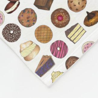 Bake Sale Cookie Cake Pie Donut Brownie Foodie Fleece Blanket