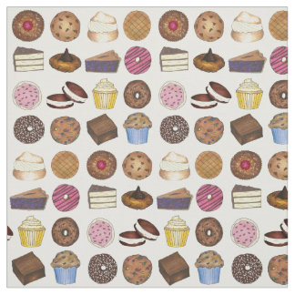 Bake Sale Cookie Cake Pie Donut Brownie Muffin Fabric