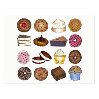 Bake Sale Cupcake Brownie Pie Cake Baked Goods Postcard