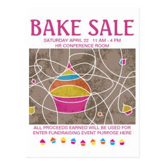 bake sale flyers postcard