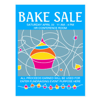 bake sale handbill flyers postcard