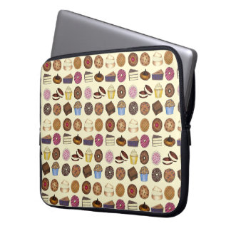 Bake Sale Treats Cupcake Cookie Pie Brownie Donut Laptop Sleeve