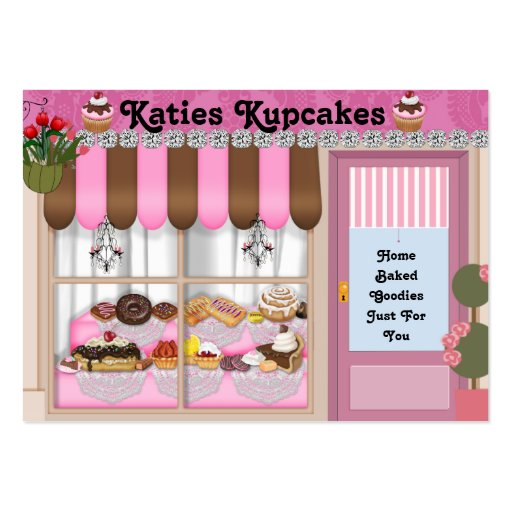 Bake Shop Style  BLING Business Card