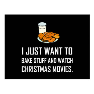 Bake Stuff Watch Christmas Movies Postcard