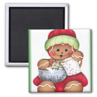 Bake with Love Gingerbread Magnet