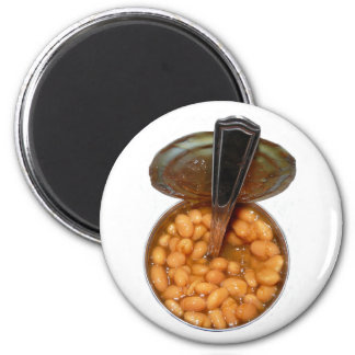 Baked Beans in Tin Can with Spoon 2 Inch Round Magnet