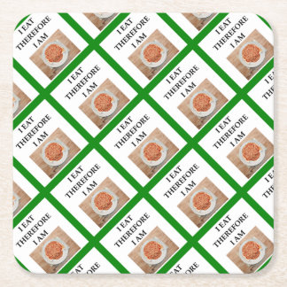 baked beans square paper coaster