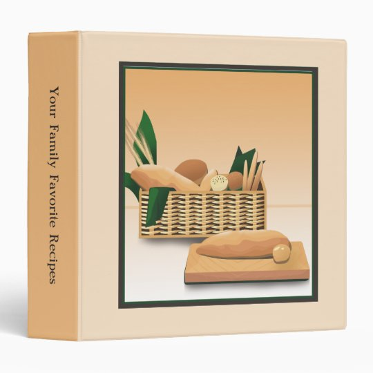 Baked Bread Family Recipe Binder