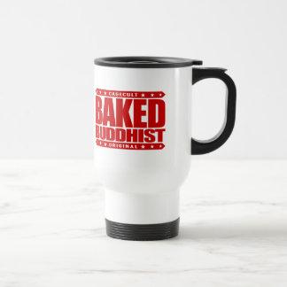 BAKED BUDDHIST - I'm Awakened Smoke Serpent, Red 15 Oz Stainless Steel Travel Mug