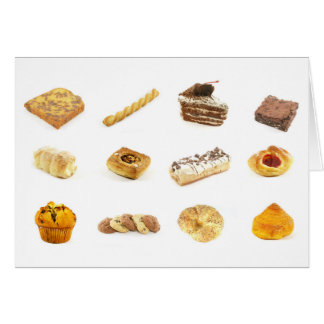 Baked Cakes and Pastries Card