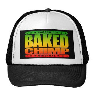 BAKED CHIMP - I Harness My 98% Primate DNA, Rasta Trucker Hat