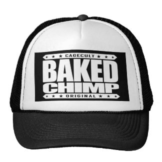 BAKED CHIMP - I Harness My 98% Primate DNA, White Trucker Hat