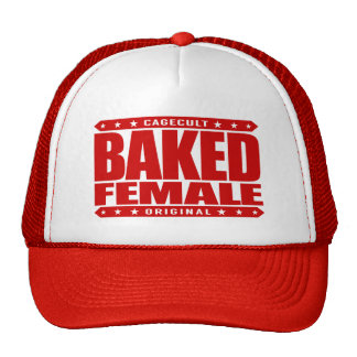 BAKED FEMALE - In Touch With My Divine Femininity Trucker Hat