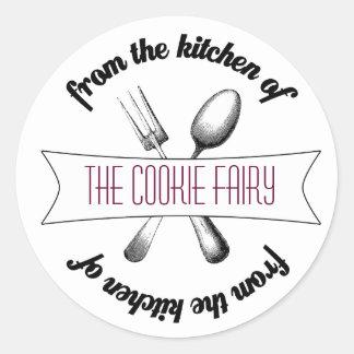 Baked Goodies Label Round Sticker
