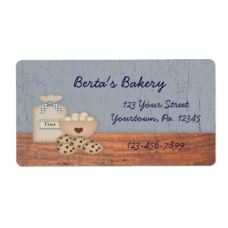 Baked Goods Business Label