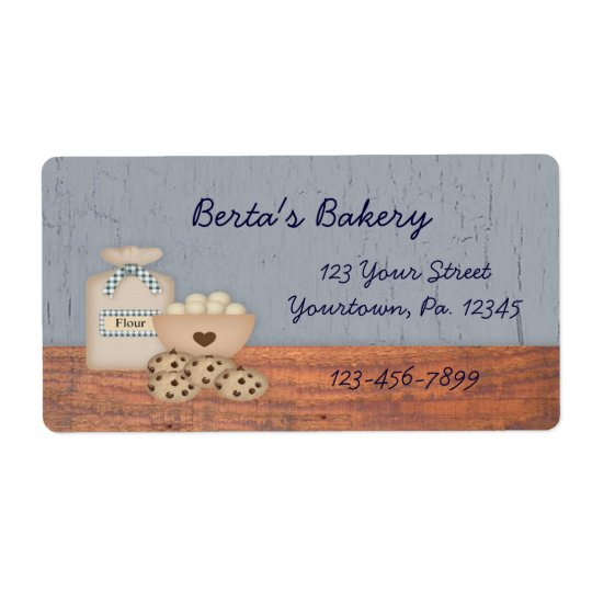 Baked Goods Business Label Shipping Label
