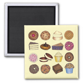 Baked Goods Cupcake Creampuff Muffin Cookie Cake Magnet