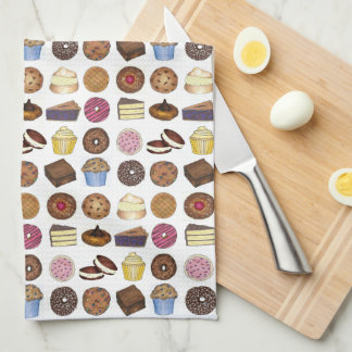 Baked Goods Foodie Muffin Cake Whoopie Pie Cupcake Kitchen Towel