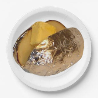 Baked Potato 9 Inch Paper Plate
