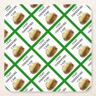 baked potato square paper coaster