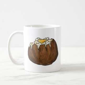 Baked Potato w/ Butter Dinner Food Foodie Picnic Coffee Mug