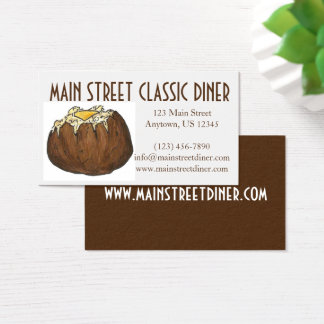 Baked Potato w/ Butter Food Restaurant Chef Diner Business Card
