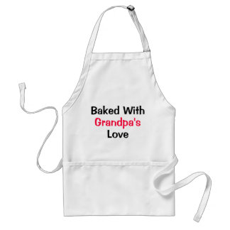 Baked with Grandpa's love Standard Apron
