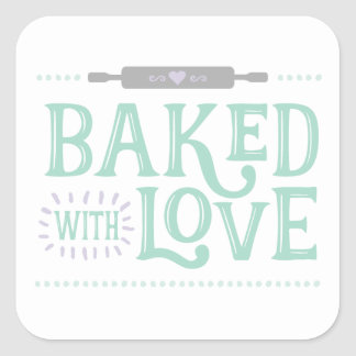 Baked With Love Sticker