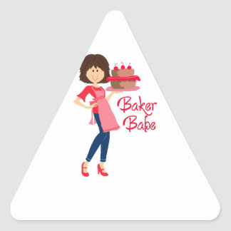 BAKER BABE TRIANGLE STICKER