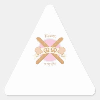 Baker_BakingIsMyLife Triangle Stickers