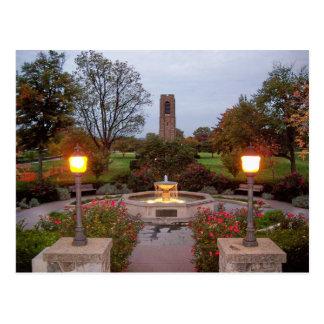 Baker Bark Carillion Tower & Fountain Postcard