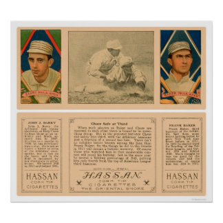 Baker Barry Athletics Baseball 1912 Poster