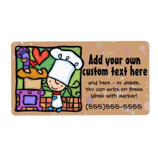 Baker.Bread.Bakery.Cooking.Custom.Template Étiquette D'expédition