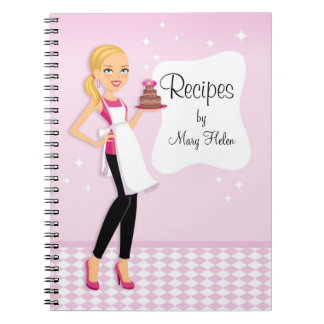 Baker Cake Decorator Party Planner Notebook