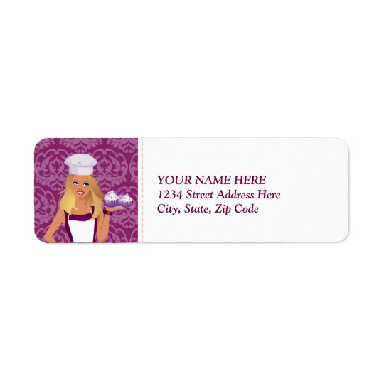 Baker Cake Decorator Return Label Custom