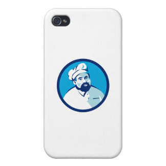 Baker Chef Cook Bearded Circle Retro Cover For iPhone 4
