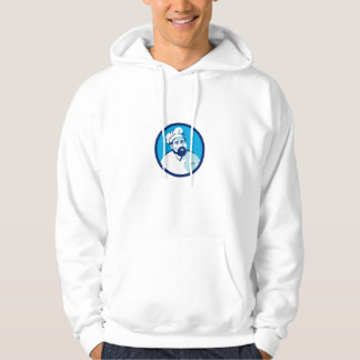Baker Chef Cook Bearded Circle Retro Hoodie