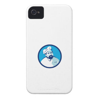Baker Chef Cook Bearded Circle Retro iPhone 4 Case