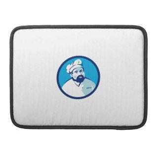 Baker Chef Cook Bearded Circle Retro Sleeve For MacBooks
