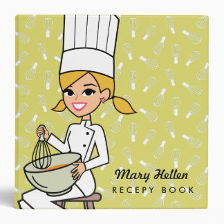 Baker Chef Themed Recipe Binder