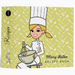 Baker Chef Themed Recipe Binder