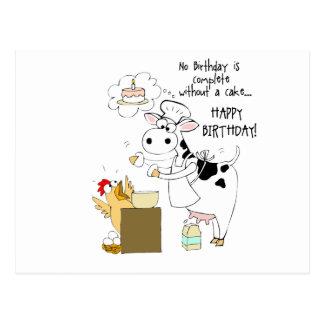 Baker Cow Postcard